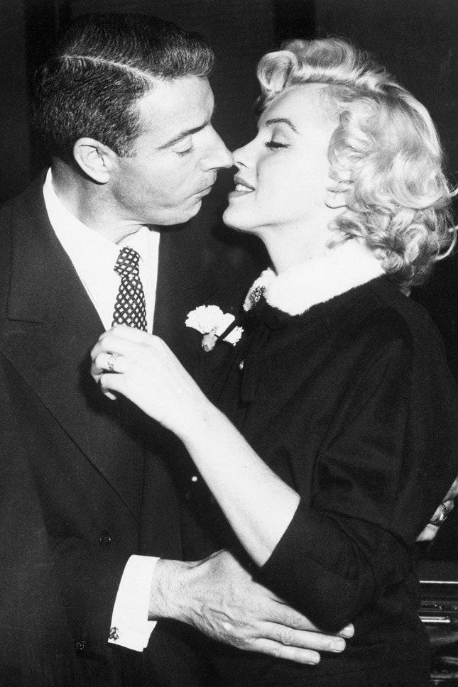 Джо Ди Маджо и Мэрилин Монро, январь 1954