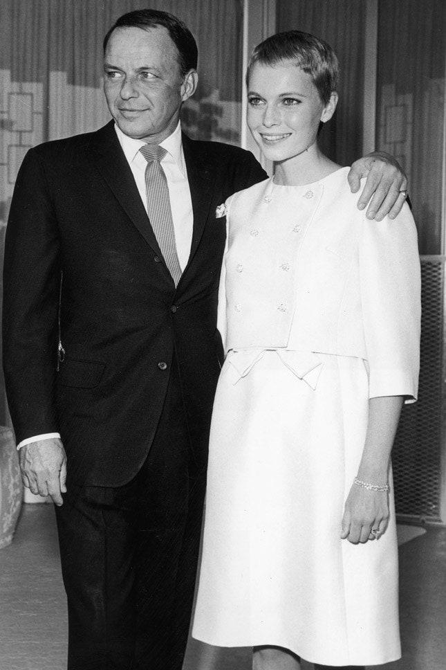 Фрэнк Синатра и Миа Фэрроу, июль 1966
