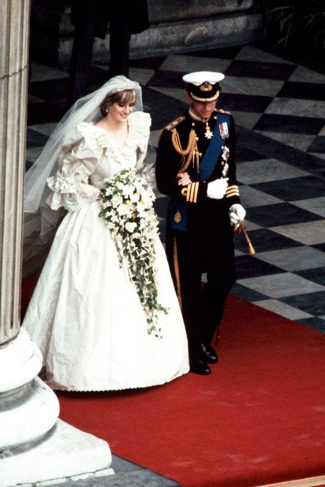 Принц Чарльз и Диана Спенсер в David and Elizabeth Emanuel, июль 1981